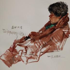 """07 Li Xiaolin, """"Yixidanzeng"""", watercolor, 54 x 48 cm, 2011"""