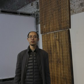 "08 Artist Wu Jian'an and the work 290x290 - Future Formula: Tracking Program of the 2nd ""CAFAM • Future"" Exhibition Opened at 798 Art Factory"
