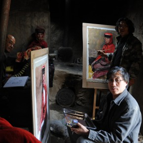 104 Li Xiaolin took sketch in 2011 on the Pamirs