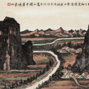 11 Cui Xiaodong The Autumn colored ink on paper 45 x 90 cm 2014 290x290 - Landscape as the Medium–Nationwide Famous Artists of Chinese Painting and Drawing Exhibition in Guilin