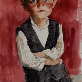 "12 Li Xiaolin, ""The Tajik Kid Manuke"", watercolor, 2011"