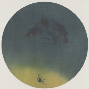 "12 Tu Shaohui ""Travel of a Spider's Silk "" colored ink on silk 33 x 33 cm 2014 290x290 - The Press Conference of ""Image Study–The Logic of Presentation in the Wash and Ink Process"" Held at the Rightview Art Museum"
