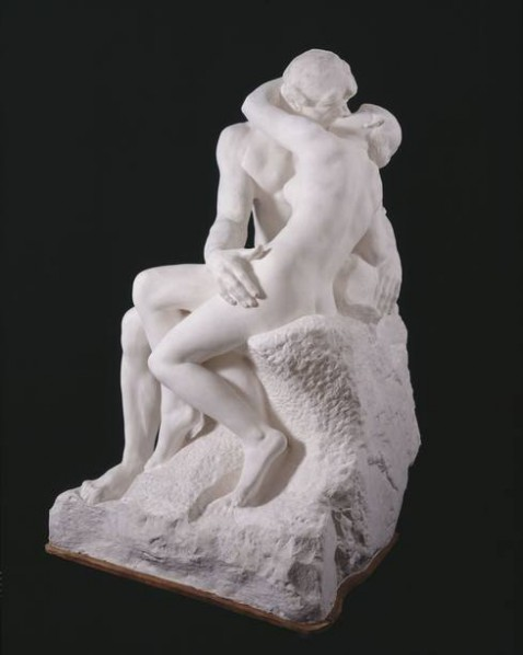 14 Auguste Rodin, The Kiss, large, 1888-1898, plaster, 184 x 112 x 110 cm, Rodin Museum in Paris, S. 174