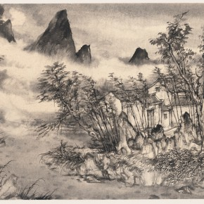 15 Qiu Ting Sketch of Huangyao No.1 ink and wash on paper 46 x 70 cm 2012 290x290 - Landscape as the Medium–Nationwide Famous Artists of Chinese Painting and Drawing Exhibition in Guilin