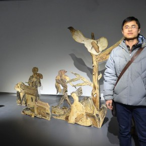 "15 Wang Chaoyong and award winning work ""Sketch"" 290x290 - Dayuntang Art Museum presented ""2014 Creative Achievement Exhibition by the Postgraduate Students of the Department of Sculpture, CAFA"""
