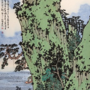 16 Xu Jun The Refreshing Breeze of the River 120 x 69 cm 290x290 - Landscape as the Medium–Nationwide Famous Artists of Chinese Painting and Drawing Exhibition in Guilin