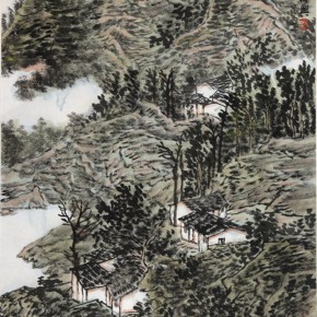 17 Zhang Fuxing The Temperament and Interest of Dry Ink colored ink on paper 2013 290x290 - Landscape as the Medium–Nationwide Famous Artists of Chinese Painting and Drawing Exhibition in Guilin