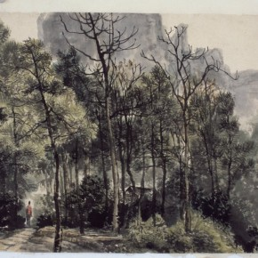 18 Zhang Weiping The Horsetail Pines of MountNanxi in Guilin 34 x 46 cm 1980 290x290 - Landscape as the Medium–Nationwide Famous Artists of Chinese Painting and Drawing Exhibition in Guilin