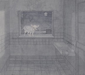"23 Zheng Qingyu ""The Lost Memory –Moonlit"" color on paper 115 x 141 cm 2011 290x256 - The Press Conference of ""Image Study–The Logic of Presentation in the Wash and Ink Process"" Held at the Rightview Art Museum"