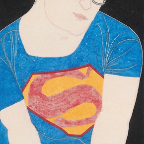 "27 Liu Qi ""The Superman"" color on paper 180 x 97 cm 2014  290x290 - The Press Conference of ""Image Study–The Logic of Presentation in the Wash and Ink Process"" Held at the Rightview Art Museum"