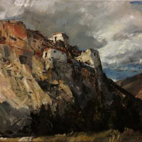 "29 Li Xiaolin, ""The Old Castle in Mount Zong"", oil painting, 50 x 61 cm, 2013"