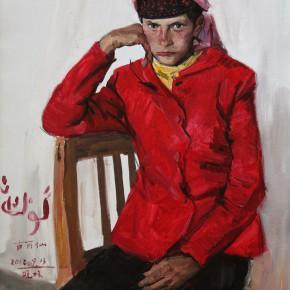 """30 Li Xiaolin, """"The Tajik Girl Gulixian"""", oil painting, 80 x 60 cm, 2012"""
