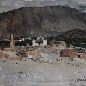 """32 Li Xiaolin, """"The Tajik Mausoleum"""", oil painting, 50 x 60 cm, 2012"""
