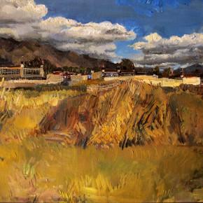 "35 Li Xiaolin, ""The Pala Manor"", oil painting, 50 x 60 cm, 2013"