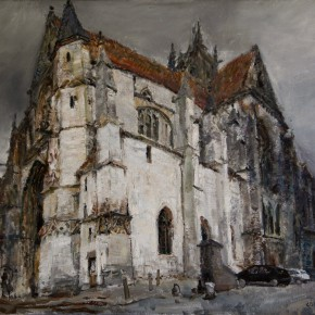 """36 Li Xiaolin, """"The Bell of the Church at Moret"""", oil painting, 60 x 80 cm, 2012"""