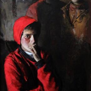 "37 Li Xiaolin, ""The Stranger"", oil painting, 150 x 80 cm, 2011"
