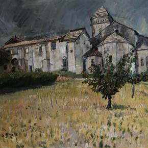 """40 Li Xiaolin, """"Van Gogh's Saint Remy de Provence"""", oil painting, 50 x 60 cm, 2012"""