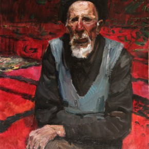 "41 Li Xiaolin, ""Uncle Bayike"", oil painting, 50 x 60 cm, 2012"