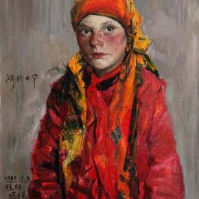 "42  Li Xiaolin, ""Ayimuhan"", oil painting, 50 x 60 cm, 2012"