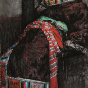 "44 Li Xiaolin, ""Zhuoma's Eyes"", pastel, 110 x 70 cm, 2011"