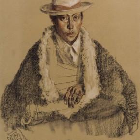 """45 Li Xiaolin, """"The Young Man from Zeku"""", pastel, 54 x 47 cm, 2005"""