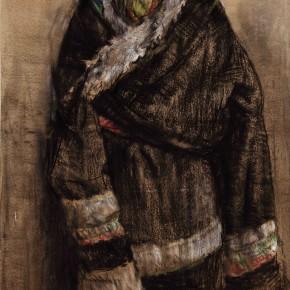 """49  Li Xiaolin, """"The Young Duoji"""", pastel, 110 x 75 cm, 2011"""