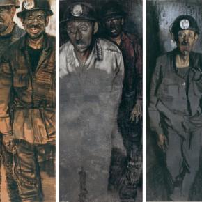 "52 Li Xiaolin, ""The People Mining Light"", pastel, 110 x 130 cm"