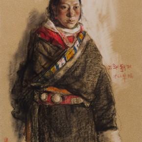 """55 Li Xiaolin, """"Cairangzhuoma"""", pastel, 46 x 38 cm, 2006"""