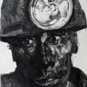 "75 Li Xiaolin, ""The Miner No.5"", print, 54 x 40 cm, 2008"