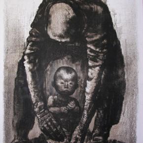 """85 Li Xiaolin, """"The Seed"""", lithograph, 50 x 70 cm, 1999"""
