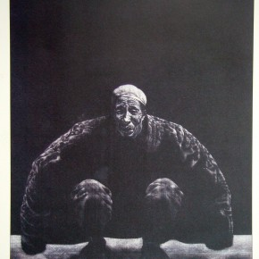 "86  Li Xiaolin, ""The Eternal River"", copperplate etching, 65 x 45 cm, 1994"