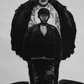 "87 Li Xiaolin, ""Circle of Life"", copperplate etching, 70 x 50 cm, 1994"