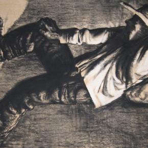 "89 Li Xiaolin, ""The Climber"", lithograph, 50 x 70 cm, 2005"