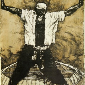 "96 Li Xiaolin, ""Legend of the Yellow River"", lithograph, 50 x 70 cm, 2001"