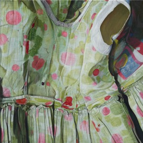 "Marina Cruz Pink Polka dots 2014 Oil on canvas 92x92cm 290x290 - Mind Set Art Center presents ""Marina CRUZ: Wear and Tear"""