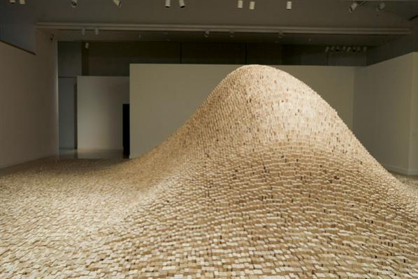 Maya Lin, 2x4 Landscape (2006), appeared at the Tate Modern in 2012. Photo Colleen Chartier, via Art in Embassies.