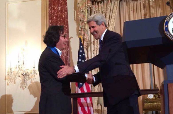 featured Xu Bing was awarded the 2014 U.S. Department of State Medal of Arts by Secretary Kerry