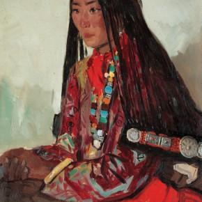 01 Wen Lipeng, Zhuoma, oil on cardboard, 54 x 39 cm, 1978