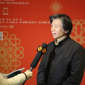 06 Fan Di'an was interviewed on site 290x290 - Chinese Public Artworks about to be presented at the Landmarks of New York in the 2015 Spring Festival