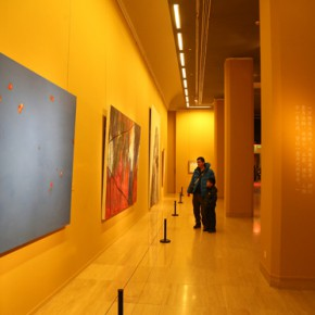 """07 Installation view of the exhibition hall of oil painting 290x290 - """"Chinese Freehand Art – Invitational Exhibition of the National Art Museum of China"""" opened at the National Art Museum of China"""