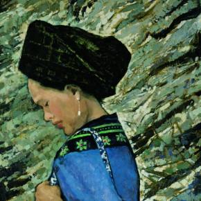 07 Wen Lipeng, Impression Xiangxi No.1, oil on cardboard, 52 x 42 cm, oil on cardboard, 1982