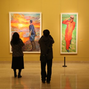 """08 Installation view of the exhibition hall of oil painting 290x290 - """"Chinese Freehand Art – Invitational Exhibition of the National Art Museum of China"""" opened at the National Art Museum of China"""