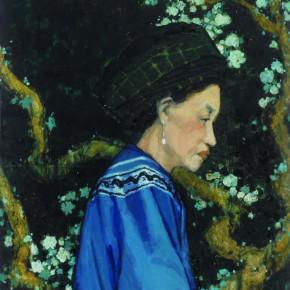 08 Wen Lipeng, Impression Xiangxi, oil on cardboard, 52.5 x 41.8 cm, oil on cardboard, 1982