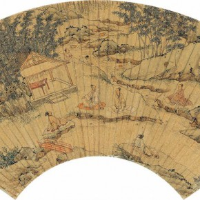09 Anonymous Lanting Liushang Figure color on paper covering of fan 17 x 45.5 cm 290x290 - Artists of the People: Exhibition of Paintings Collected by Lao She and Hu Jieqing opened at the National Art Museum of China