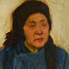 09 Wen Lipeng, The Granny with a Brown Headband, oil on cardboard, 26.2 x 24.4 cm, oil on cardboard, 1973