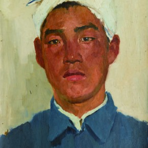 10 Wen Lipeng, The Young Man with a Sheep Belly Headband, oil on cardboard, 40 x 39.6 cm, 1973