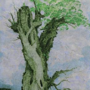 104 Wen Lipeng, Life No.7, mixed media on canvas, 116 x 90 cm, 2014