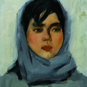 11 Wen Lipeng, The Girl with a Headband, oil on cardboard, 30 x 23 cm, 1973