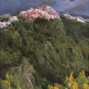 113 Wen Lipeng, The Dreamed Snow Mountain No.1, oil on canvas, 30.5 x 25 cm, 2001