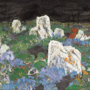 122 Wen Lipeng, The World of Gold and Silver, oil on board, 17.5 x 26.5 cm, 2001